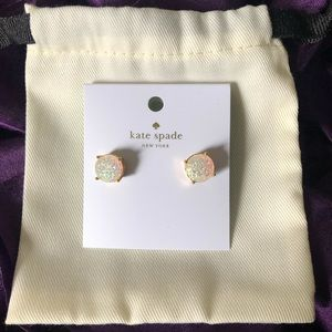 Kate spade glitter earrings!!